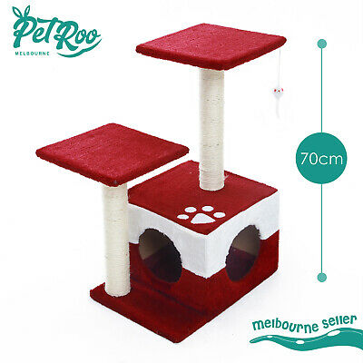 Cat Tree Scratching Post Scratcher Pole Gym House Furniture Multi Level 70cm RD