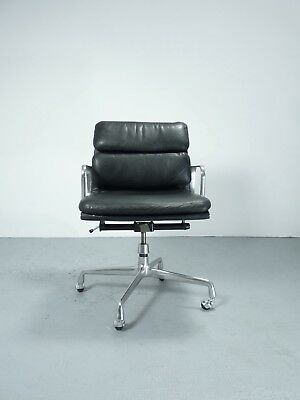 Herman Miller EA217 Leder Softpad aluminium group chair Design Charles&Ray Eames