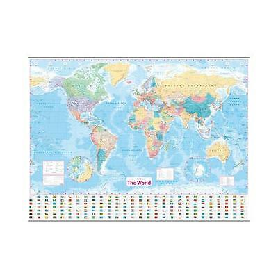 World Wall Laminated Map by Collins UK