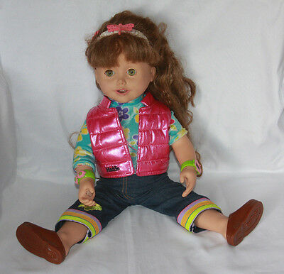 """Maddie Electronic Talking Doll 19"""" With Let's Play Arts & Crafts Adventure Pack"""