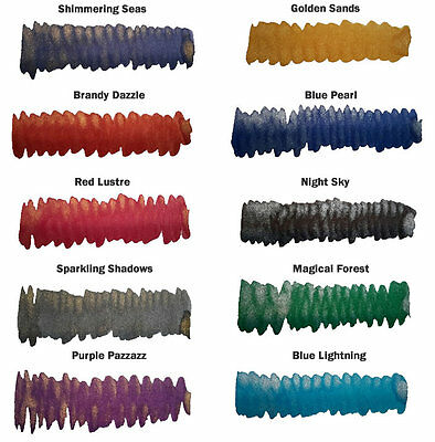 Diamine 50ml Shimmering 'Glitter' Inks for Fountain Pens - 32 Colours Available