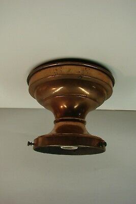 Antique Vintage Lightolier? School House Light Fixture Copper Finish Brass
