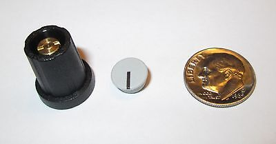 "1/8"" Shaft Collet Knobs W/cap & Nut Cover 11 Mm Sifam  Sn110-125  Black  20 Pcs."