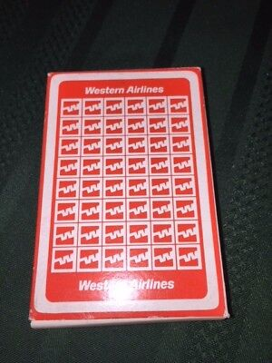 Western Airlines Playing Cards - Sealed Deck - Red - New