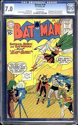 Batman  #139 (1961)  Cgc 7.0  High Grade 1St Appearance Of The Original Batgirl