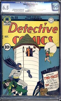 Detective Comics #68  Tec  Cgc 6.5 (1942) 1St Cover, 2Nd Appearance Of Two-Face!