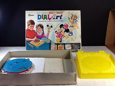 DISNEY DialArt 1969 Vintage HASBRO W/Box Mickey Mouse Rare collectible drawings