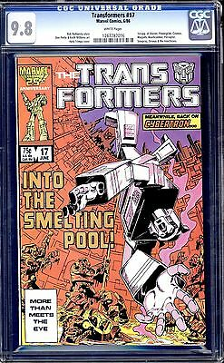 Marvel Transformers # 17 Cgc 9.8 White Pages