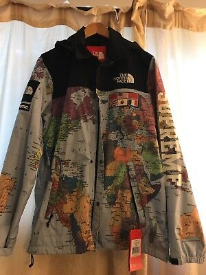 12ef0b77 supreme X north face map jacket supremenyc tnf northface rare L large sold  out