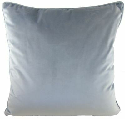 """Luxury Evans Lichfield Royal Velvet Silver Grey Piped Soft Cushion Cover 17"""""""