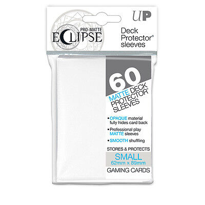 PRO-Matte Eclipse White Small Deck Protector Card sleeves 60ct Yugioh #85268 NEW