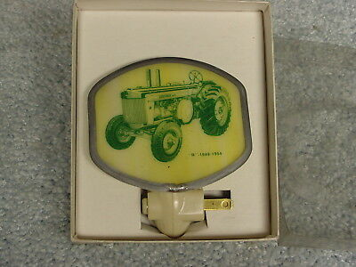 John Deere  Tractor R Stained Glass Night Light