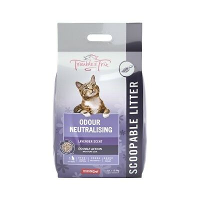 NEW Trouble & Trix Lavender Cat Litter - 15 Litre