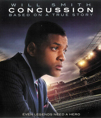 Concussion ~ Will Smith ~ Blu-ray Disc + UltraViolet Digital Copy FREE Shipping