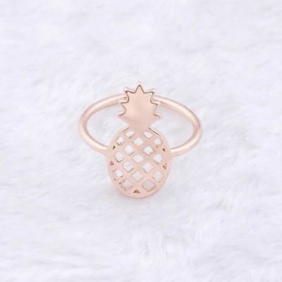 Super Cute Adjustable Cut Out Pineapple Ring