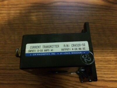 Cr Magnetics Cr4320-50 Current Transmitter 50Amp 4-20 Ha Dc
