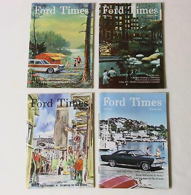 4 Vintage FORD TIMES Magazines 1965 Year June -  October Mustang GT LTD T-Bird