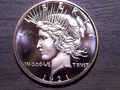 """TRIBUTE COIN  """"ICONIC PEACE""""  ONE TROY OZ. .999 FINE * /... fast free delivery!"""