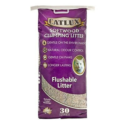 NEW Catlux Softwood Clumping Litter - 30 Litre