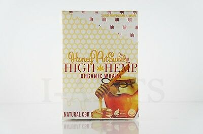 1 Box 25 Pouches(50 wraps) High Hemp Organic Wraps GMO-FREE Honey Pot Swirl