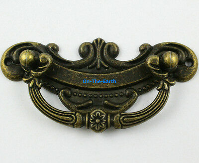 5 Pieces 94x45mm Antique Brass Furniture Box Handle Cabinet Knob Drawer Pull