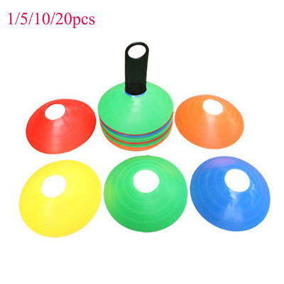 Sports Training Discs Markers Cones Soccer Afl Exercise Personal Fitness HU