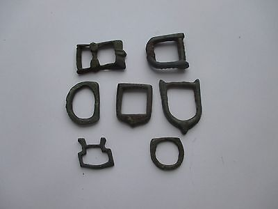 Fantastic Lot of 7 Buckles. Antique belt buckle.