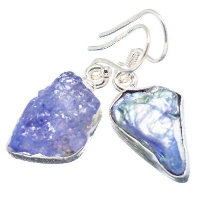 "Tanzanite 925 Sterling Silver Earrings 1 1/4"" Ana Co Jewelry E350401F"