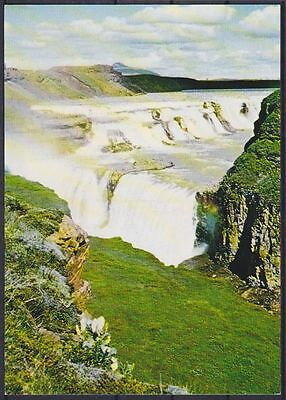AK Island der goldene Wasserfall 1977, Iceland The Golden Waterfall, ungebr.