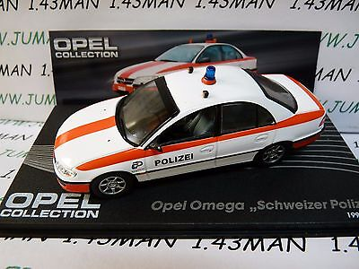 OPE117R voiture 1/43 IXO eagle moss OPEL collection : OMEGA police suisse