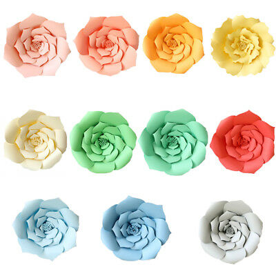2pcs Large Paper Flowers Backdrop, Birthday Wall Decor, Party Decoration 20cm/8""
