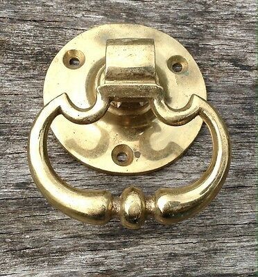 Large Vintage Antique Brass Swag Pull Cupboard Drawer Handle
