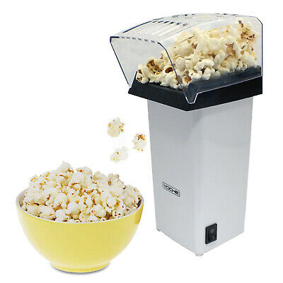 White Electric Hot Air Popcorn Maker Pop Corn Making Popping Popper Machine