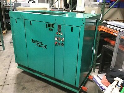 Sullair 100UD Updraft Rotary Screw Drive Compressor 440CFM@125PSI 100HP 460V 3P