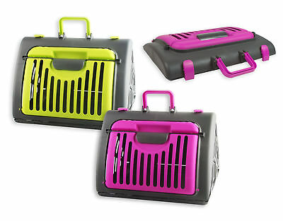 Pet Carrier Cage Collapsible Pet Carrier Foldable Dog Cat Training Transport Vet
