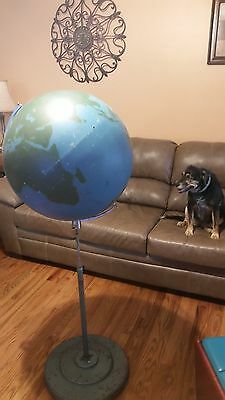 "A.J. Nystrom World Military Training Globe 21"" Dia w/ stand Naval Air Force Edu"