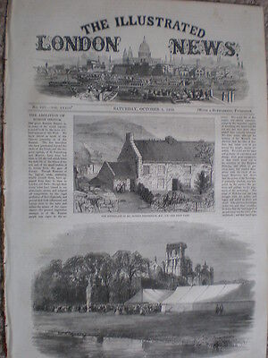 Birthplace of civil engineer Robert Stephenson cottage at Hillington 1858 print