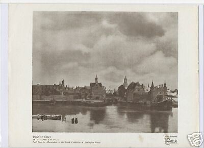 """1981 Vintage VERMEER /""""VIEW OF DELFT/"""" GORGEOUS COLOR offset Lithograph"""