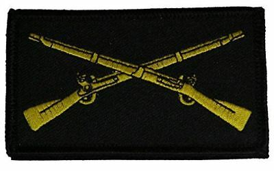 Us Army Infantry Crossed Rifles 2 Piece Patch Hook And Loop Backing Grunt 11B