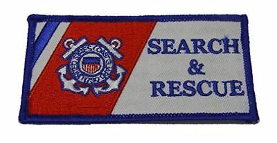Uscg Coast Guard Search And Rescue Flag Patch Semper Paratus Sar Maritime