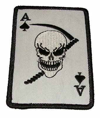 Ace Of Spades Death Card Patch Skull Sickle Vietnam Jinx Superstition