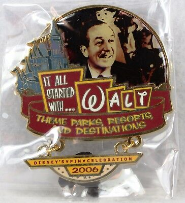 Disney WDW It All Started With Walt LE 60 Pin Theme Parks Resorts Completer