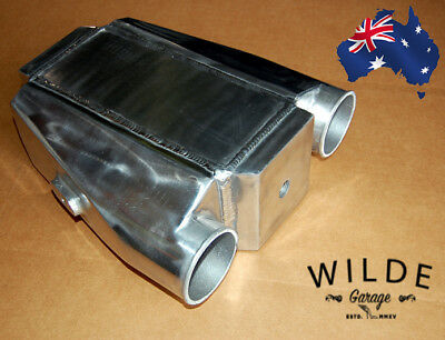 """Air to Water Intercooler A/W IC 3.0"""" in/out Liquid Core Aluminum Jet Ski Sea Doo"""