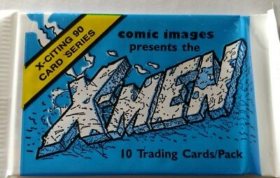 X-Men X-Citing 90 Card Series 10 Trading Cards/Pack by Comic Images 1991