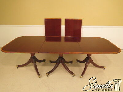 L38936: Custom Made English Mahogany 3 Part Banquet Dining Table