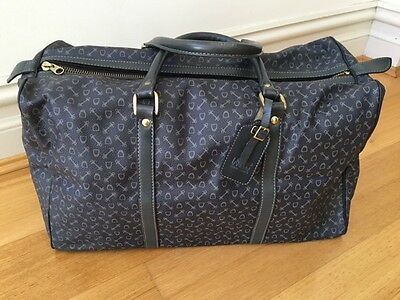 Why Overnight Bag Leather Trim As New