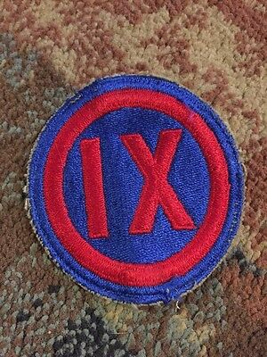 Original used WWII US Army IX Corps shoulder patch whiteback Pacific