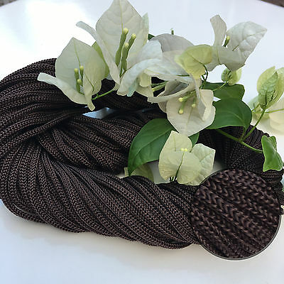 CHOCOLATE Waterproof Cord - 30m Colourful Braided Nylon Rope - Wall/Pot/Hanging
