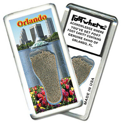 Orlando FootWhere® Souvenir Fridge Magnet. (OD201 - Fountain) Made in USA.