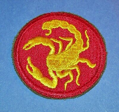 ORIGINAL CUT-EDGE WW2 22nd INFANTRY GHOST/PHANTOM DIVISION PATCH